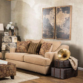 Furniture of America Arklow SM1241 LV Tan Fabric Love Seat