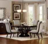 "Homelegance 5494-76  60"" Round Oval Dining Set 