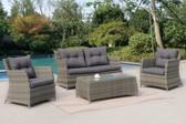 Poundex P50291 Outdoor Patio 4-PCS Conversation Set   Outdoor Wicker Sofa Set