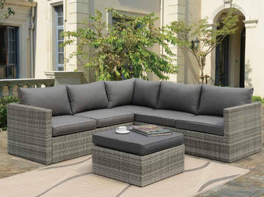 Poundex P50292 Outdoor Patio 3-PCS Sectional Conversation Set