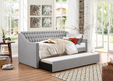 Tulney Gray Day-bed with Roll Out Trundle | Homelegance 4966