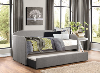 Ronald Gray Daybed with Roll Out Trundle