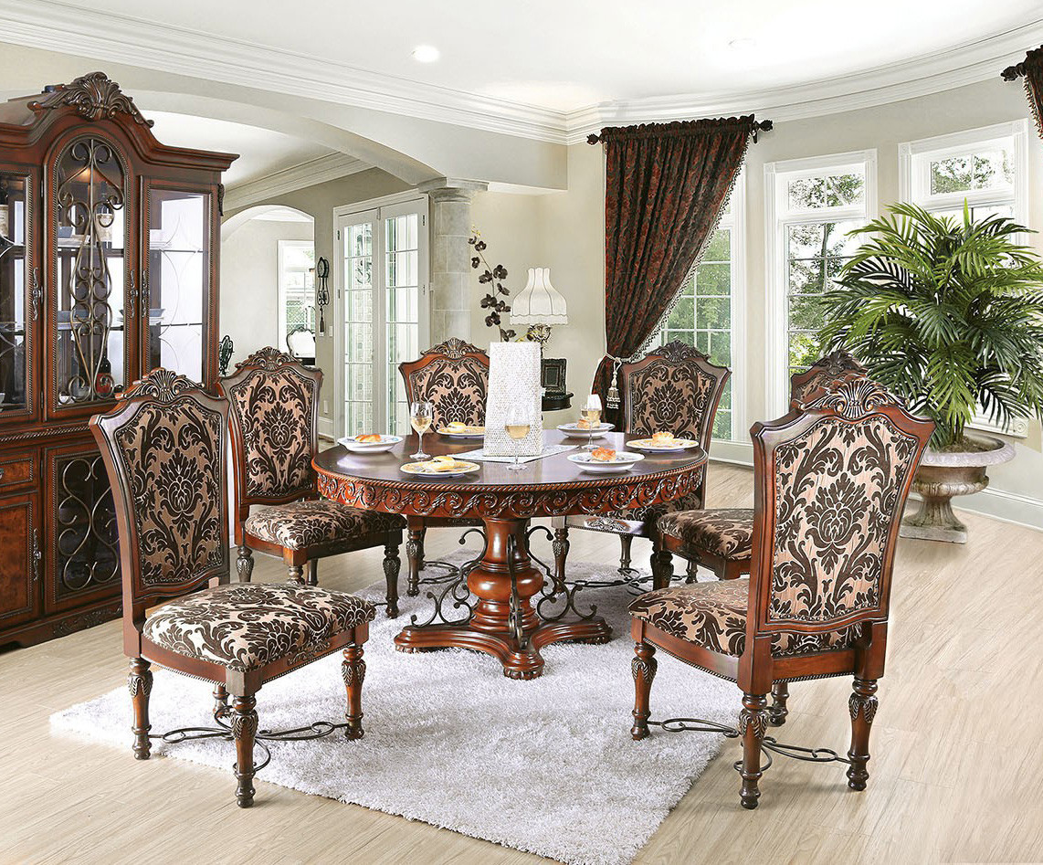 Furniture Of America Cm3788rt Lucie Dining Table Set Oc Furniture
