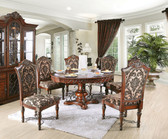 Furniture of America CM3788RT Lucie Dining Table with Four Chairs