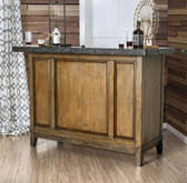 Furniture of America BT8342 Light Walnut Bar Stand | Bar Table with Storage