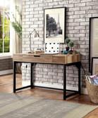 Zatch DK902 Industrial Style Desk in Oak and black finish