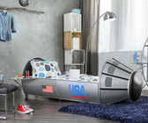 Space Shuttle Inspired Silver Bed