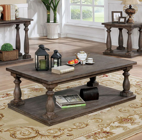 Tammie Cm4421 Rustic Coffee Table