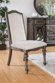 Arcadia Ivory Fabric Arm-less Chairs