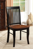 Earlham Antique Oak Black Wooden Seat Mission Style-Back Chair