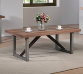 Natural Walnut Espresso Occasional Table
