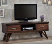 60 Inch TV Console in Warm Brown with Storage