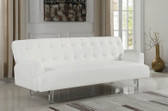 White Leatherette Sleeper Sofa
