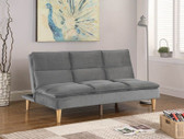 Gray Fabric Pillow Top Convertible Sofa