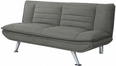 Gray Woven Fabric Pillow Top Convertible Sofa