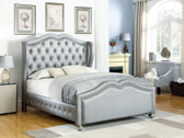 Belmont Metallic Platinum Upholstered Bed