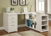 Yvette L-Shape Reversible Office Desk in White
