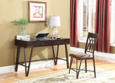 2 PC Writing Desk with Chair in Brushed Pecan