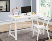 2 PC Desk with Chair in White Finish