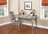 Bling Writing Desk in Metallic Platinum