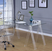 Acrylic Home Office Desk with Glass Top