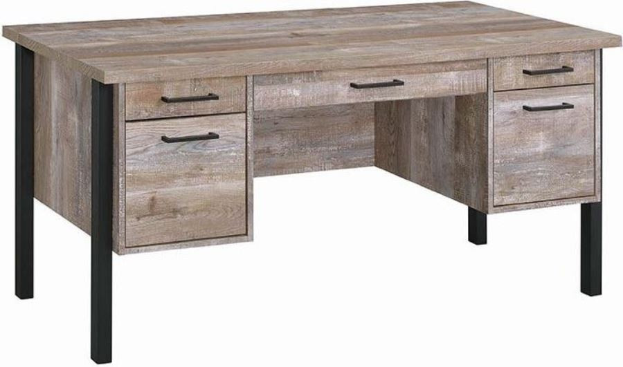 Prime Home Office Desk In Weathered Oak Interior Design Ideas Clesiryabchikinfo