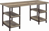 Skelton Home Desk with Shelves in Weathered Pine