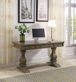 Home Office Pedestal Desk in Rustic Oak