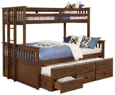Bristol Twin XL over Queen Bunk with Trundle and Drawers