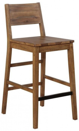 Tucson Varied Natural Bar Height Chair with Back set of 2