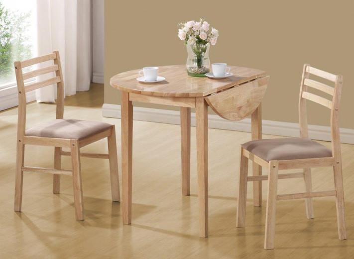 35 Round Natural 3 Pc Kitchen Table Set