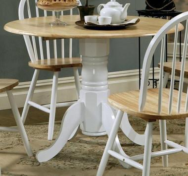 "40"" Round Natural White Kitchen Table"