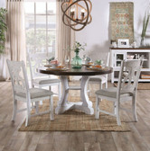 Annette White Dark Oak Table with Chairs