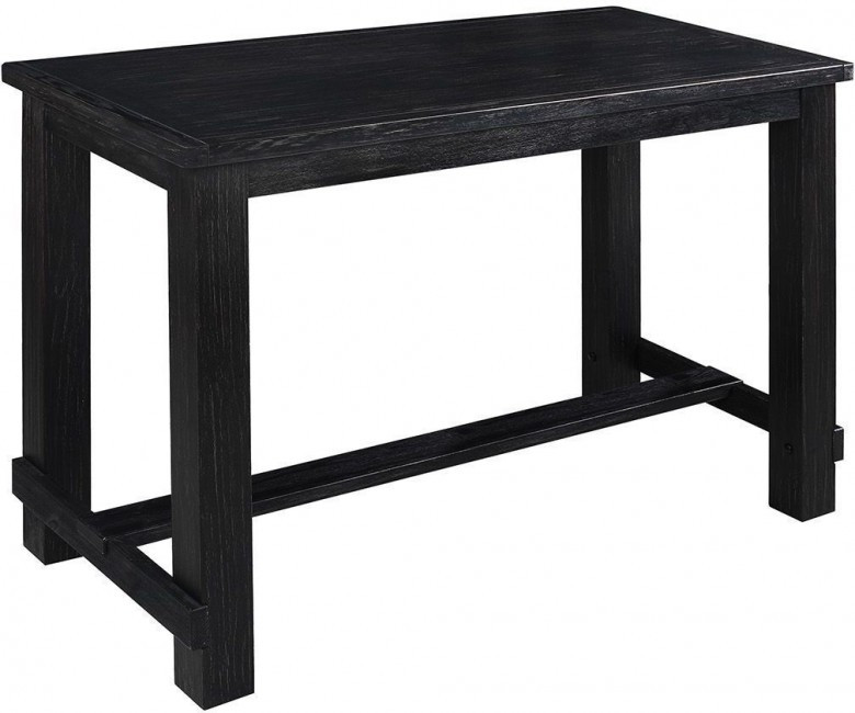 Rustic Antique Black Pub Table. Hover To Zoom