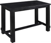 Rustic Antique Black Pub Table