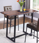 Rectangular Live Edge Pub Table in Gray Sheesham