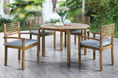 Poundex 5-Pcs Patio Table with Chairs