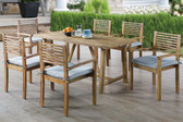 Poundex 7-Pcs Rectangular Patio Dining Set