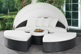 Emily Outdoor Patio Lounge Bed with White Canopy