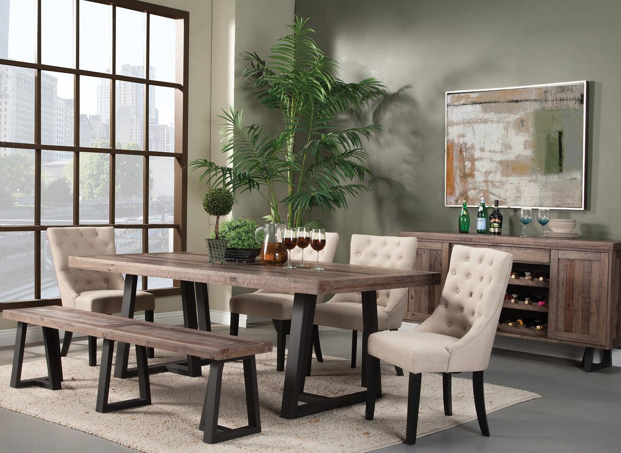 Amazing Prairie 6 Pc Dining Set By Alpine Furniture Short Links Chair Design For Home Short Linksinfo