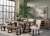 Prairie Trestle Table with Chairs and Bench