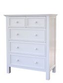 Bay Shore Chest of Drawers in Winter White