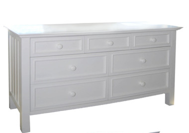 Bay Shore 7-Drawer Dresser in Winter White