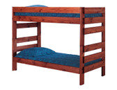 Pine Valley Twin XL Convertible Bunk Bed in Mahogany