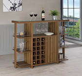 Braxten Bar Cabinet with Shelving and wine Rack