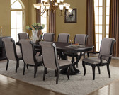 Ashville Espresso Expandable Dining Table with Upholstered Chairs