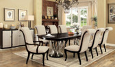 Espresso Champagne Dining Table with 6 Chairs