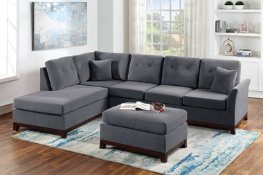 2-PC Sectional with Reversible Chaise in Gray