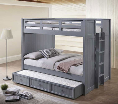 Austin Panel Full Size Bunk Bed with Optional Trundle