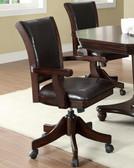 Dark Mahogany Arm Game Chair